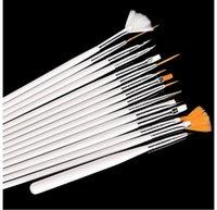 15pcs Pincéis de maquiagem Make up Brushes Professional Gel polonês Pintura Nail Art Flor Pen Pontilhando ferramenta de desenho Para Natural False Beleza 3D