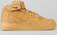 Wholesale Nike Air Force Mid PRM QS FLAX Wheat Men Ane Women Sneakers Shoes Sizes
