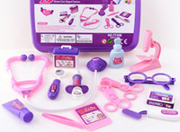 Wholesale Girl children Kids Simulation Doctor Pretend Play Set Toy Medicine Box Nurse