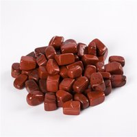 Wholesale 100 Natural Red Jasper Tumbled Stone Beads Points Crystal Healing Reiki Polished Free pouch