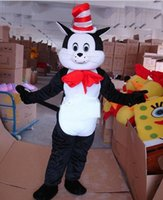 Wholesale Hot Selling Dr Seuss s The Cat in the Hat Holloween Mascot Costumes Costumes cartoon Costumes
