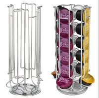 Wholesale 24 Coffee Pod Holder Rotating Revolving Rack Tower Capsule Stand For Dolce Gusto