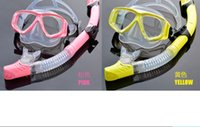 Wholesale 2016 New Swimming Swim Scuba Pro Anti Fog Goggles Mask Dive Diving Glasses Snorkel Snorkel Glasses Set Silicone Swimming Pool Equipment