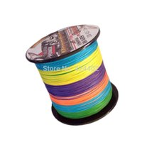 river rock - High quality M feihong super Brand PE Multifilament pe Braided Fishing Line Strands multi color