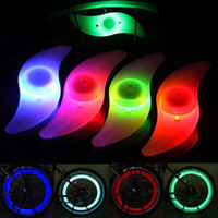 Wholesale Hot Bike Bicycle LED Lights Motorcycle Electric car Wheels Spokes Lamp Silicone colors flash alarm light cycle accessories