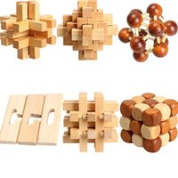 Wholesale Hot Chinese Traditional Wooden Adult Children Puzzle Intelligence Education Toy EMS DHL Mail