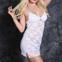 Wholesale New Morden Women Hot Sexy Baby Dolls Solid Pattern Lace Ladies Charming Elegant Exotic Apparel Free Size
