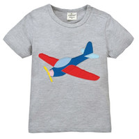 Cheap 2016 Jumping Beans Boys Tshirts Grey air plane Solid Boy's T-Shirts 100% Cotton Tops Outfits Jersey