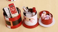 Wholesale 3 Layers Santa Candy Gift Box snowman storage box Christmas ornament Christmas Decorations More Than TNT