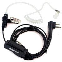 Wholesale RETEVIS Pin PTT Throat MIC Covert Acoustic Tube Earpiece for Motorola Radio GP88 GP300 GP2000 CT150 P040 C9006A Alishow
