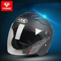 Wholesale 2015 New Eternal YOHE motorcycle half face helmet electric bicycle helmets ABS motorbike riding helmet for four seasons YH M L XL XXL