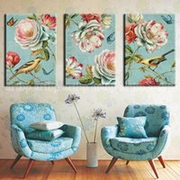 african birds pictures - Vintage Flowers Birds Decorative Canvas Et Ready To Hang Oil Painting African American Art Large Wall Art Abstract Bed Room