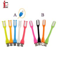 Wholesale Portable Night lights USB Lamp Flexible Mini LED Light Candy Color usb Lights For Tablet PC USB Power Notebook Cellphone Smartphone Cheap US