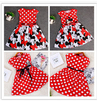 minnie mouse dress - 2 styles New Summer Girls Dress Tutu Princess Baby Mickey Minnie Mouse Dress Dot Baby Casual Paty Dress for Years Kid Dress S113