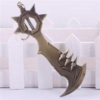 Wholesale Game LOL Weapon Keychain League of legends Draven Car Key Chain Key Rings Men Ring Chain
