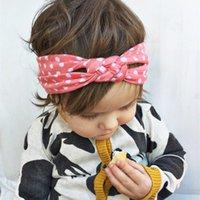 bandanas for head - Baby Headbands Girl Hair Accessories Cotton Braided Head Wrap Kids Safely Cross Twisted Soft Hairband Polka Dot Elastic Headbands for Girls