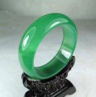 jade bangle - Natural green jade bangle charm luck bangle bracelet Custom Size mm