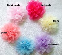 """Cheap 20pcs 4.5"""" mixed Color Chiffon Lace Flower For Hair Accessories Bridal Wedding Decoration Hawaii Party"""