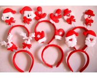 Wholesale Christmas Decoration Party Wing Style Reindeer Antler Santa Claus Children Girl Boy Christmas Hat Hoop Gfit S120