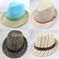 Wholesale summer straw fedora hats for men chapeau panama hats women trilby hats Jazz hats accept paypal