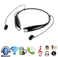Cheap Free DHL hv 800 neckband Stereo Portable sport headsets In ear bluetooth Headphones wireless Earphone 30pcs lot (DY)