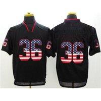 Cheap USA Flag Fashion Football Jerseys Black Shadow #36 American Football Jerseys New Style Football Clothing Hot Sale American Football Apparel