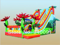 Wholesale Manufacturers selling inflatable trampoline inflatable castles inflatable slide Flower slide