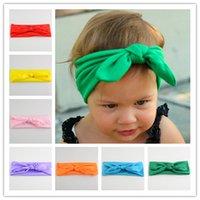 stretch fabric - Baby Headdress Ear Hair of Children with Stretch Fabric Color Spot Rabbit Bow Hairbands Headwear Headbands Fashion New