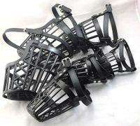 Wholesale NEW Pet Dog Black quot quot Dog no bark Adjustable Basket Cage mesh Muzzle mask Guardian B80