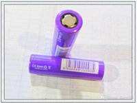 Wholesale High Quality Batteries Purple A IMR purple mAh battery A flat top lithium battery batteries Free DHL