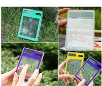 Wholesale transparent digital counter solar calculator touch screen counter cm