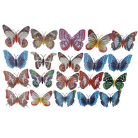 adhesive magnets - 20pcs cm Artificial Butterfly Luminous Fridge Magnet for Home Christmas Wedding Decoration H9719