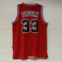 chicago bull - Bulls Red Scottie Pippen Basketball Jersey Shirts Retro Chicago Men s Sport Jerseys Top Quality Rev Mesh