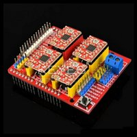 Cheap Wholesale-Free shipping! New cnc shield v3 engraving machine   3D Printer   + 4pcs A4988 driver expansion board for Arduino