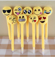 Wholesale emoji plush Ballpoint New Emoji toys Creative Expression pen with cartoon plush toys Cartoon emoji ballpoint pens Emoji Stationery D321