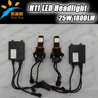 Wholesale High brightness CREE chip H11 LED Headlight Fog Conversion Kit Replaces Halogen HID Xenon Alternative