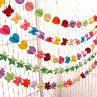 Wholesale Hanging paper flowers Christmas artificial flowers garland birthday wedding flowers decorative flowers wreaths baby shower toy