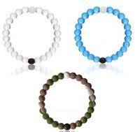ebay - 100 Hot On Ebay Silica Gel Bracelets Black And White Beads Bracelet Jelly For Unisex Size And Colors