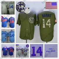 based bank - Ernie Banks Jersey Vintage Chicago Cubs Jerseys Hemp Grey Cool Base White Pinstripe