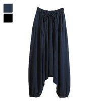 linen pants - Wholesales Fashion Korean Style Drop Crotch Men Pants Linen Mens Joggers Harem Pants Male Sweatpants Asia Tag Size M XL WR0163 kevinstyle