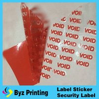 Wholesale Professinal Printing Warranty Void Stickers