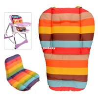 Wholesale 2015 New Waterproof Soft Baby Stroller Cushion Rainbow Striped Car Seat Double Side Baby Support Hot