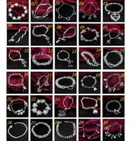 925 sterling silver bracelet - 30PCS Mix Order Sterling Silver Plated Fashion Link Chain Bracelets Jewelry