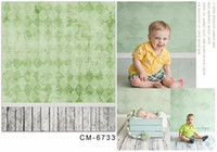 baby muslin fabric - 5X7FT Green Wall Baby Photography Studio Background For Photos Muslin Computer Printed Digital Vinyl Backdrop Fabric Backgrounds