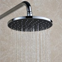 Wholesale 8 quot Round Rainfall Shower Head Plastic Material Chromed Polished Shower Faucets