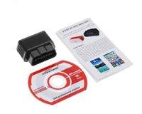Wholesale A6 KW903 ELM327 Bluetooth Car OBD2 OBDII Auto Fault Diagnostic Interface G0730 T15
