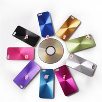 plastic cd covers - Bling CD Grain Vinyl Chrome Electroplate Metal Aluminum Alloy Hard Plastic Case For iphone Plus quot inch G TH quot Skin cover
