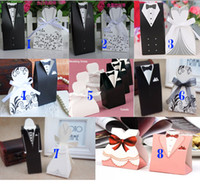 Wholesale NEW classic wedding candy box Bride Groom Wedding Bridal Favor Gift Boxes wedding favor box bag style select AT01