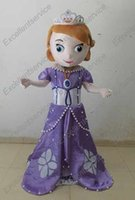 Cheap Customized Professional Cartoon Princess Sofia MASCOT Character Costume For Adult Fancy Dress Party Suit