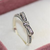 Cheap Silver ring Best Sparkling Bow Ring